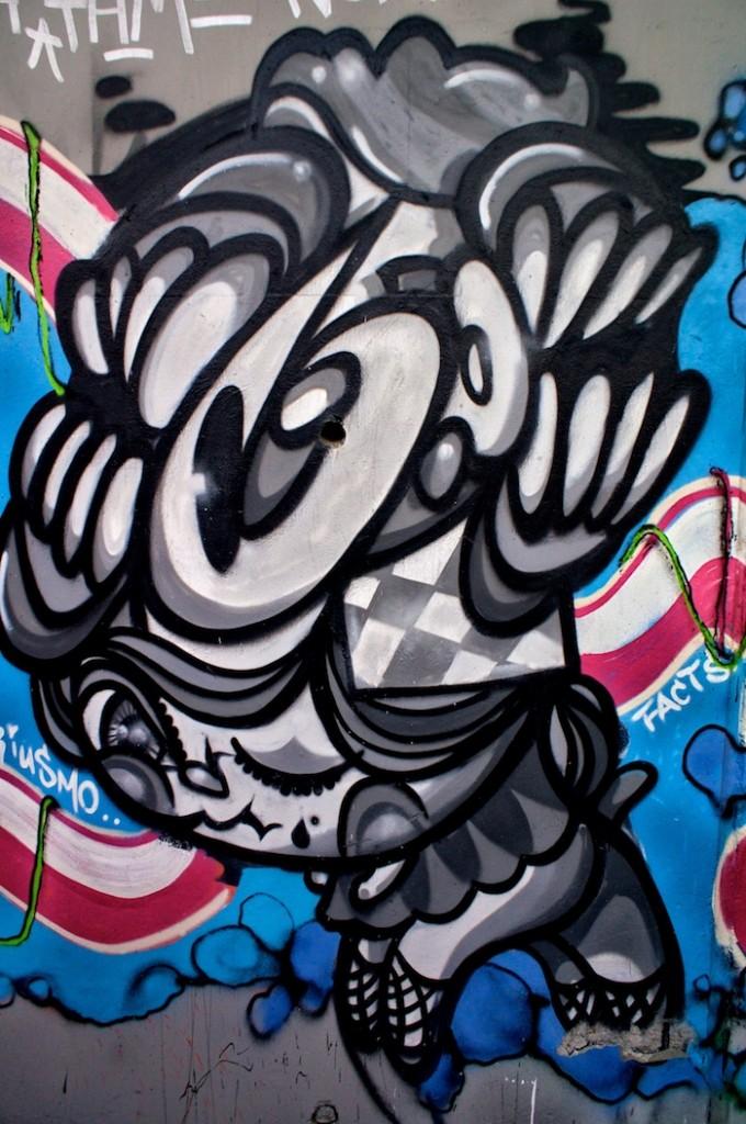 un mur de graffiti à mongkok