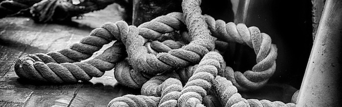 along a rope