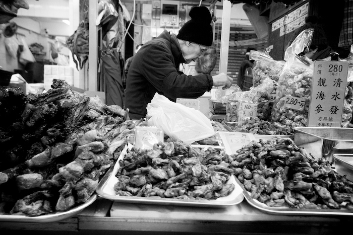dried seafood stand