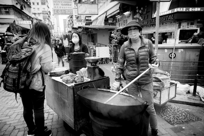 hot chestnut seller
